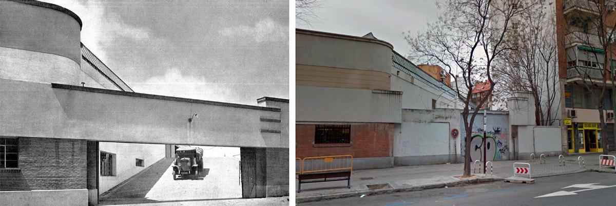 memorias-tecnicas-documentaciones-Edificio-Parque-Sur-Madrid-Paseo-Chopera-41-estudios-obra-porton-carruajes-trasero