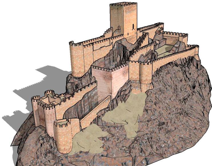 estudios-tecnicos-licitaciones-castillo-almansa-3D-sketchup-proyecto