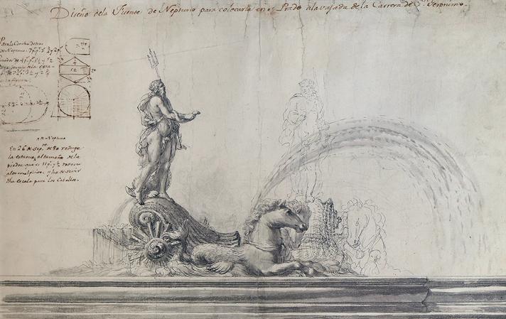 Cartel de la exposición sobre Ventura Rodríguez en los cuarteles del Conde Duque en Madrid